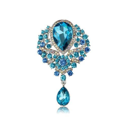 c9edce422 Aqua Blue Crystal vintage inspired brooch .